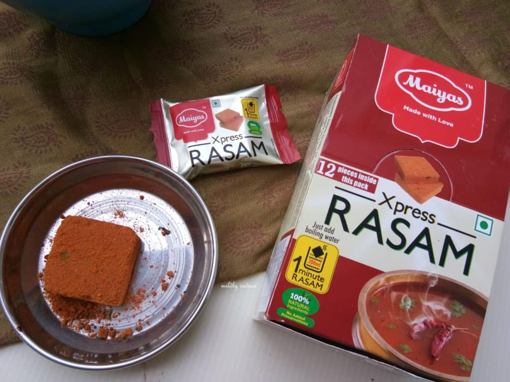 Rasam cube packaging