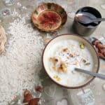 Doodh pauva, Rice flakes delicacy.