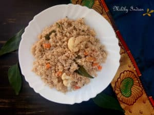 upma with farro and vegetables